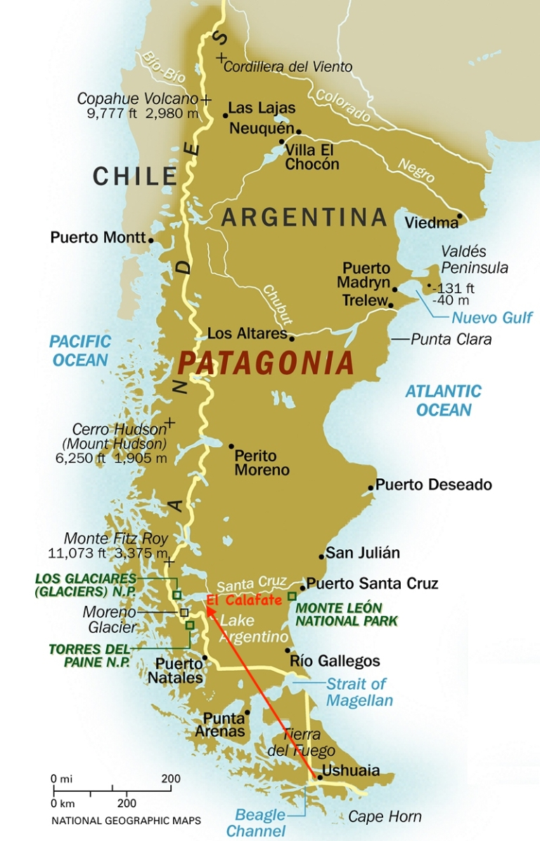 Patagonia_map_To El Calafate